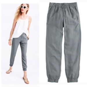 J.crew seaside linen blend jogger pants 4-6 gray
